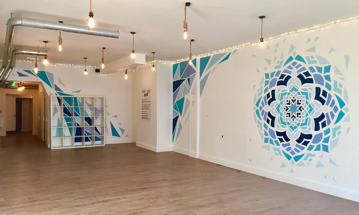 shattered mandala mural abstract artwork