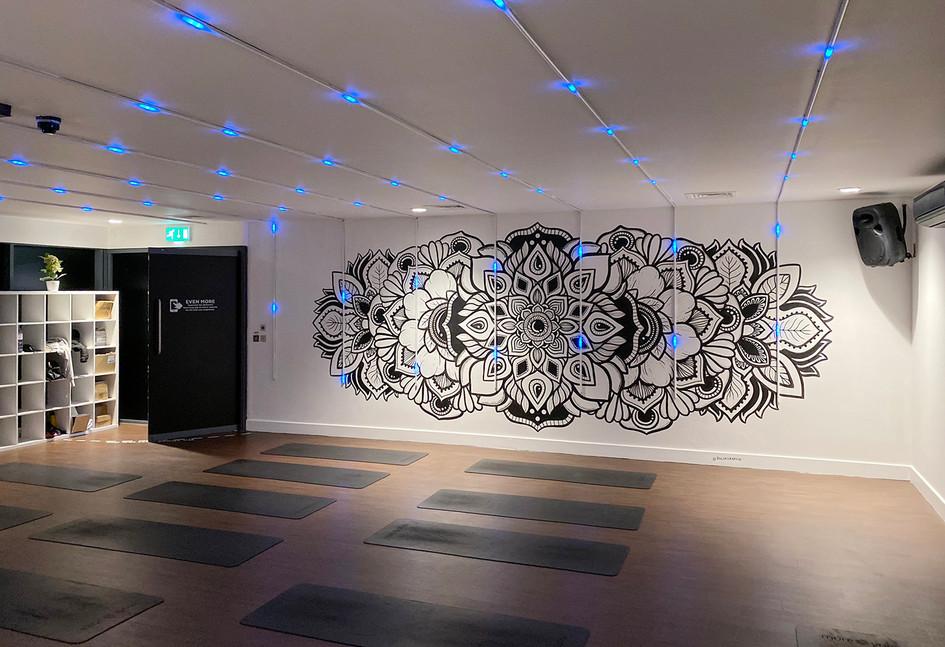 illuminated LED mandala mural painting phloxgraphix 7