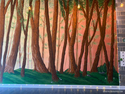 Forest mural & Tree installations