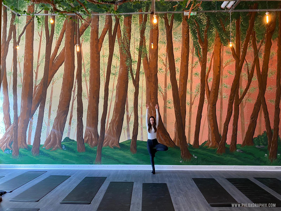 Forest mural and tree installations by phloxgraphix 3