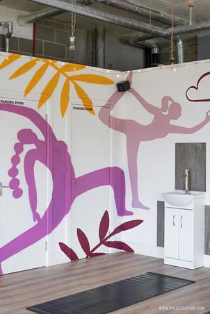 yoga characters mural 06