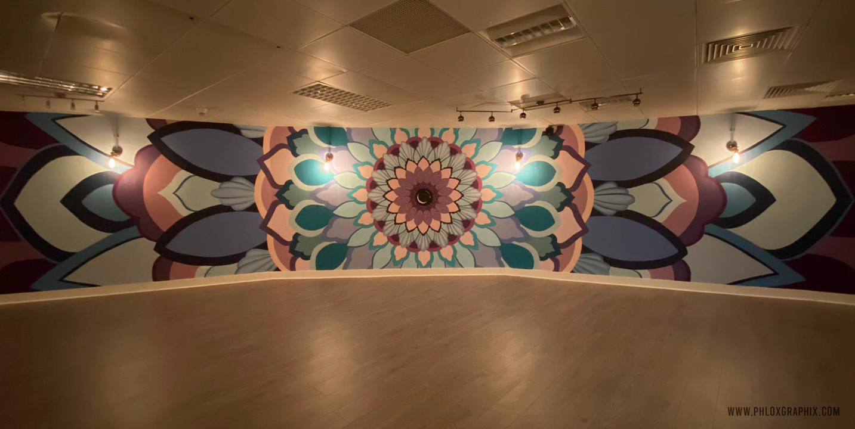 Third eye mandala mural 05