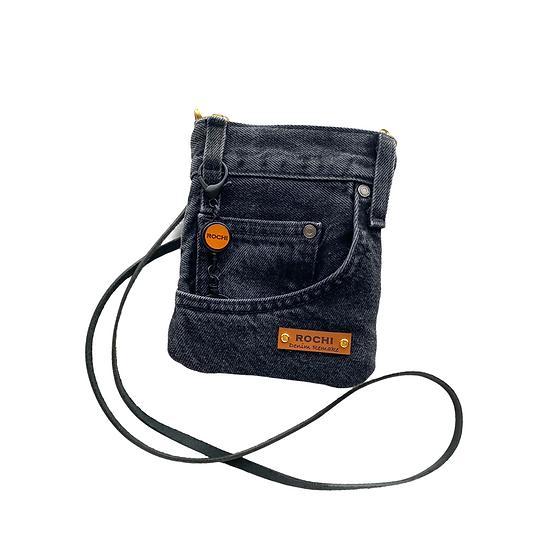 Mini Pouch Shoulder (black denim) #8