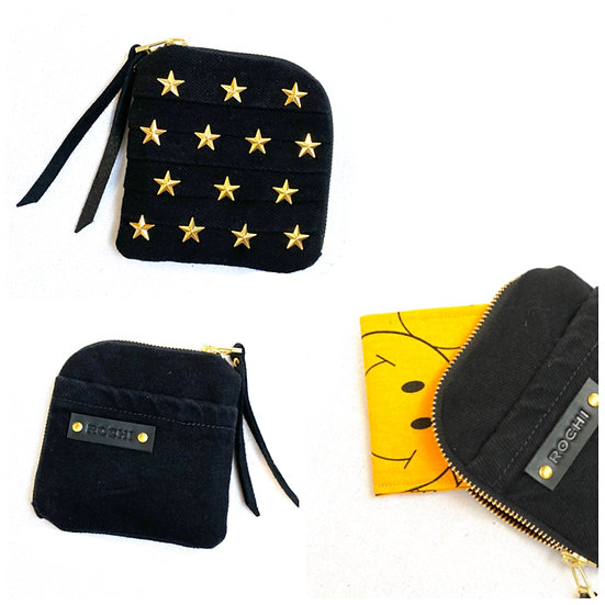 Mini Wallet (black denim)