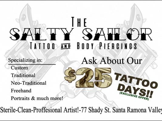 Salty Sailor Tattoo Sale