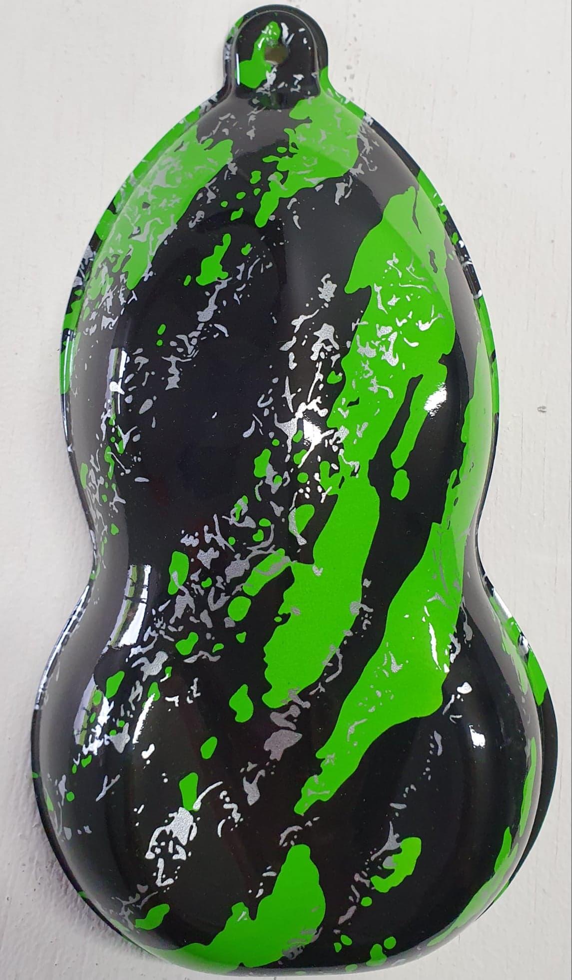 Splatter in green.