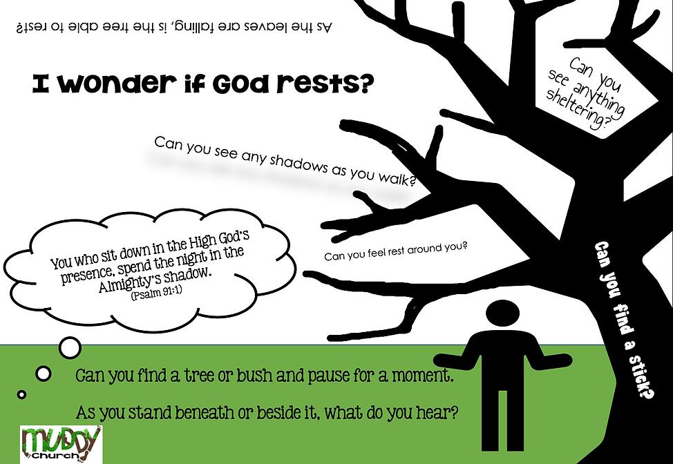 Rest - I wonder if God rests?