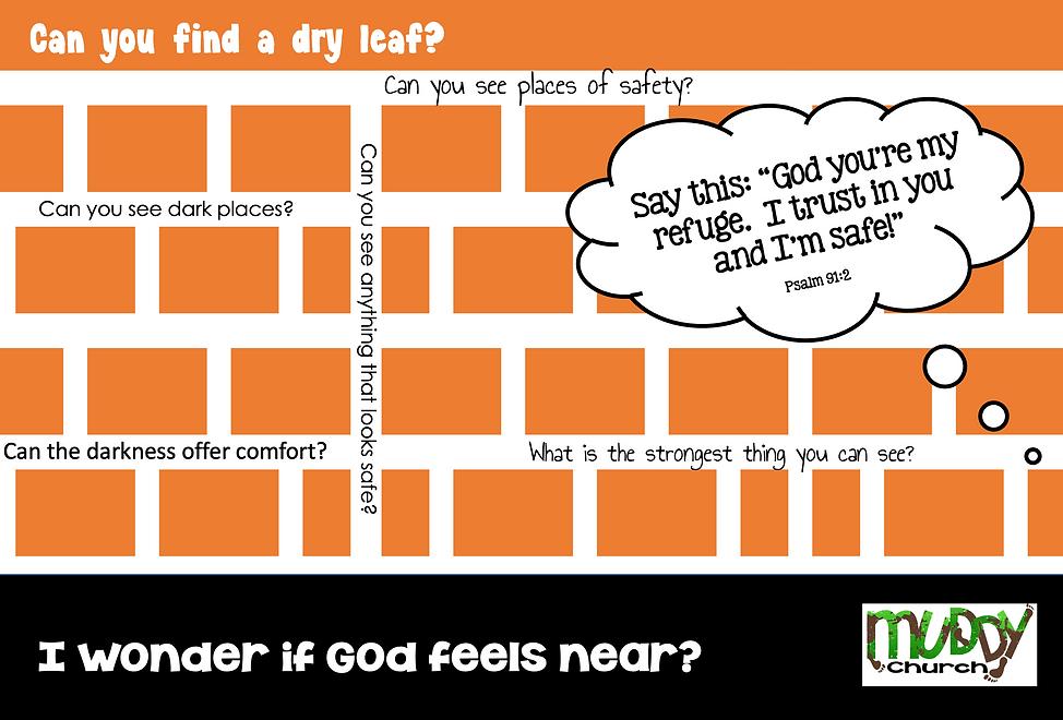 Safe - I wonder if God feels near?