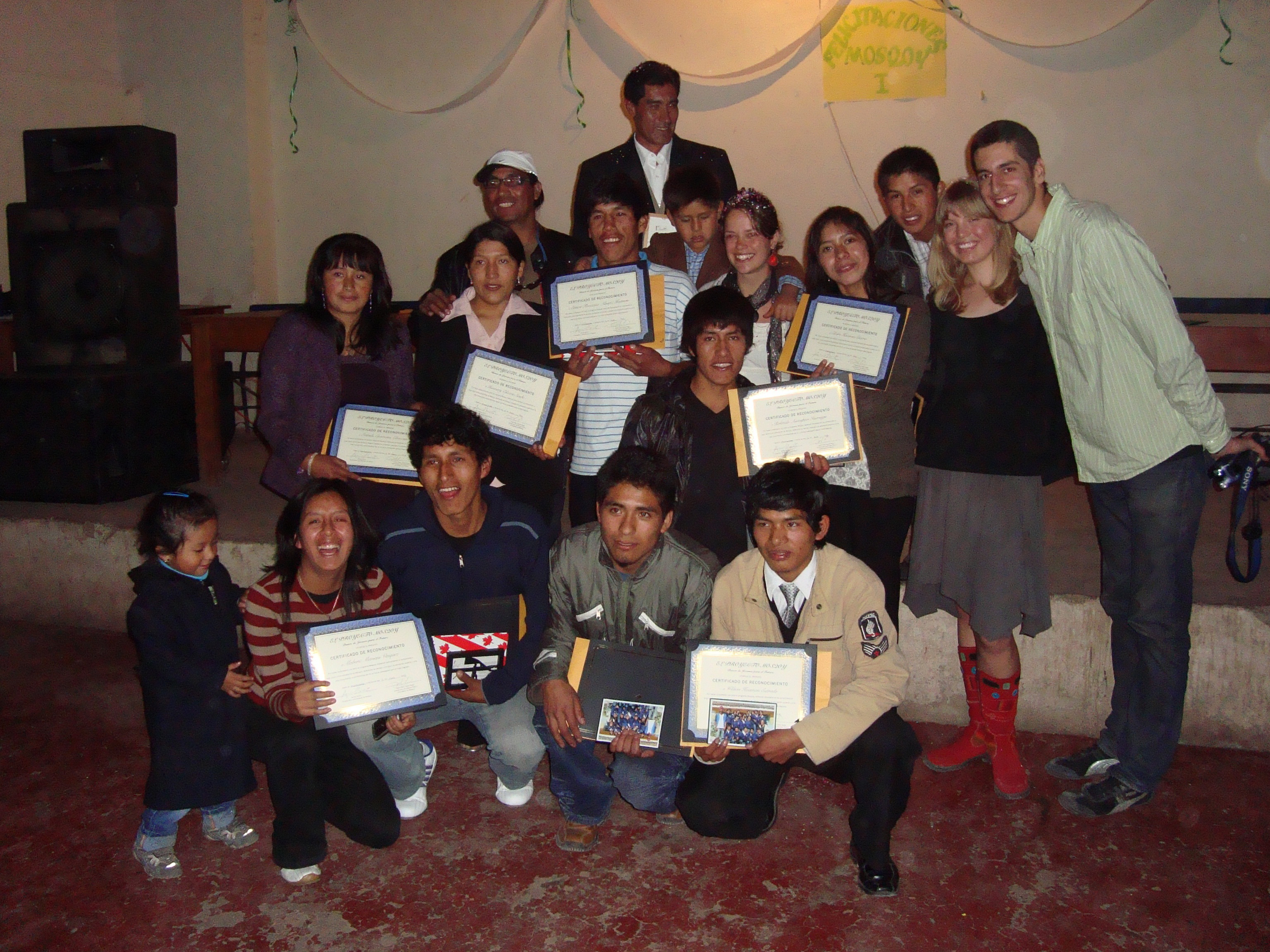 Graduates of T'ikary Youth Program