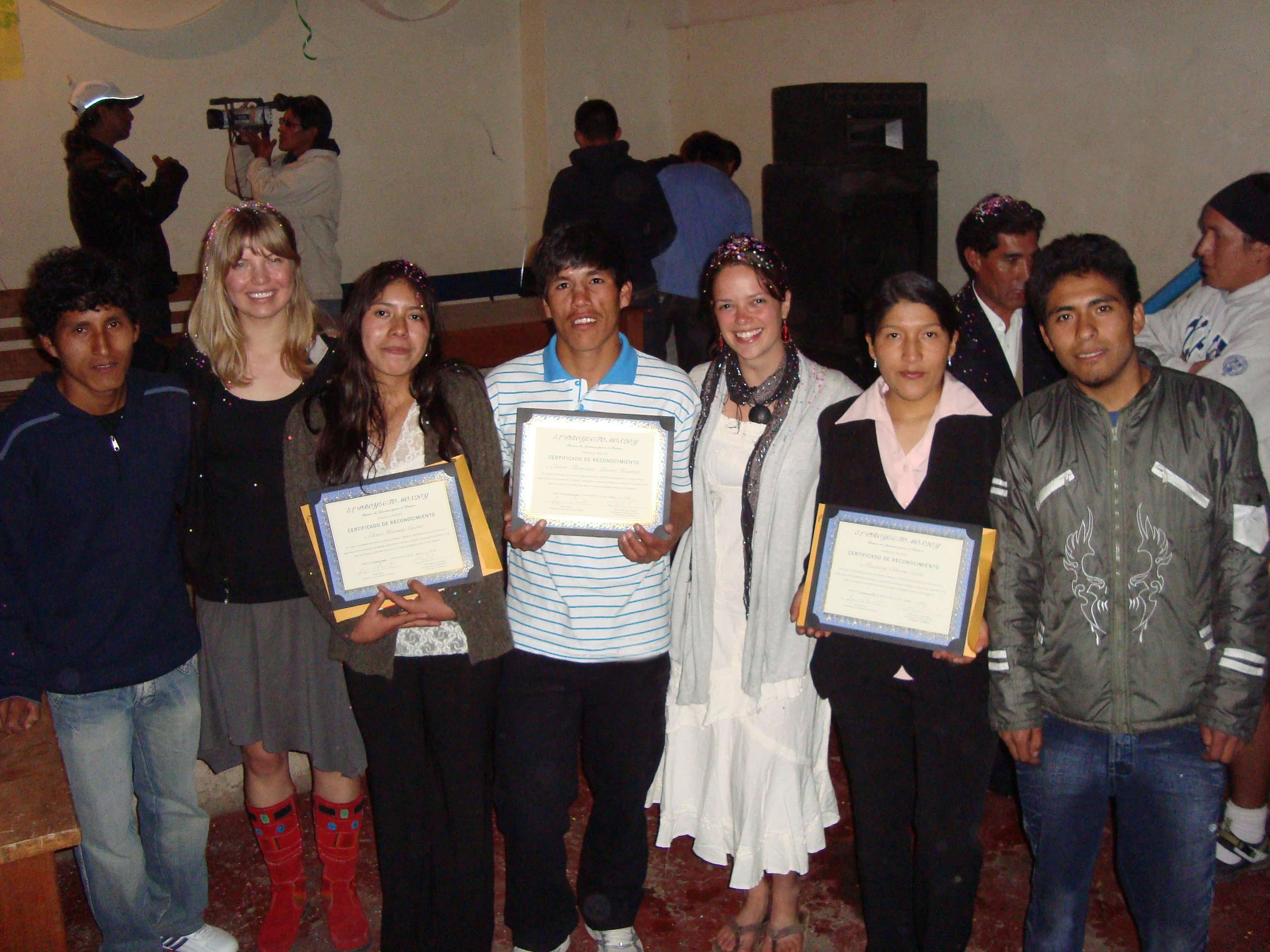 T'ikary Youth graduates with Ashli