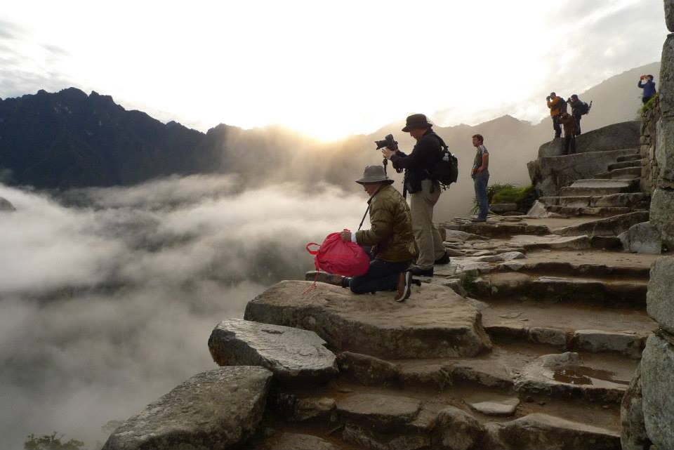 Machu Picchu and students