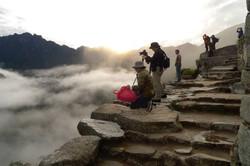 Machu Picchu and students