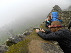 Taking photos at Machu Picchu