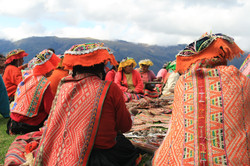 A meeting of weavers