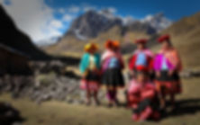 Quechua weavers in the Peruvian Andes mountains