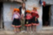 Quechua children posing with Ashli