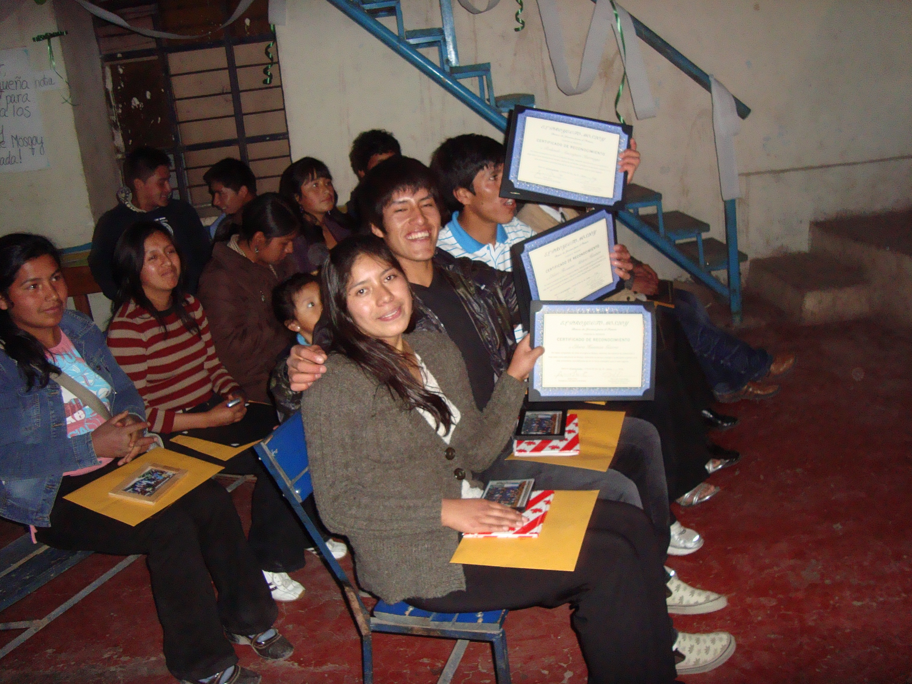Elvira, Rolando with certificates