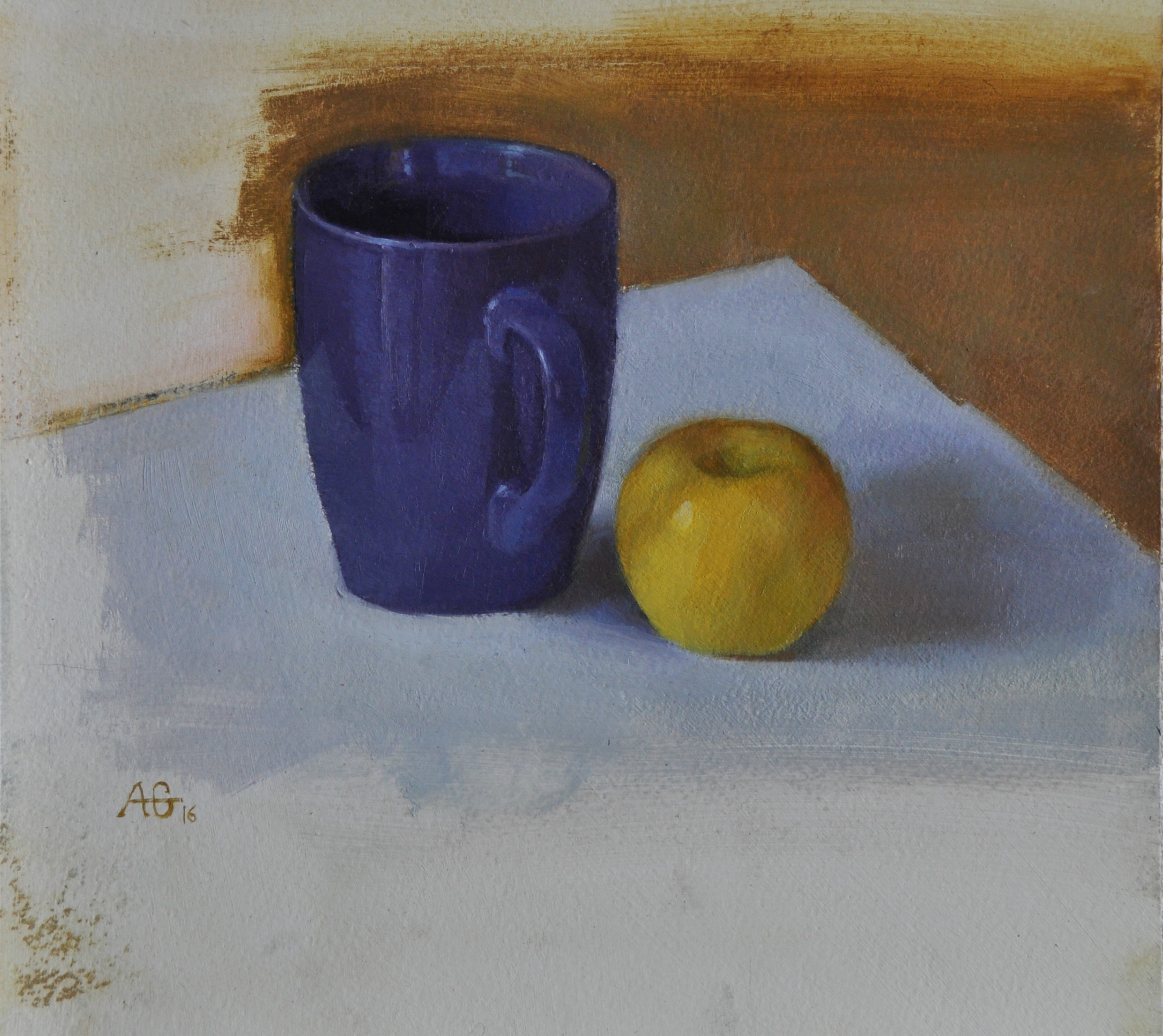 Cup and apple