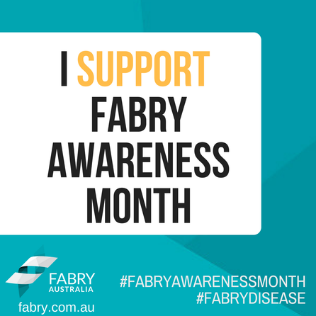 I Support Fabry Awareness Month