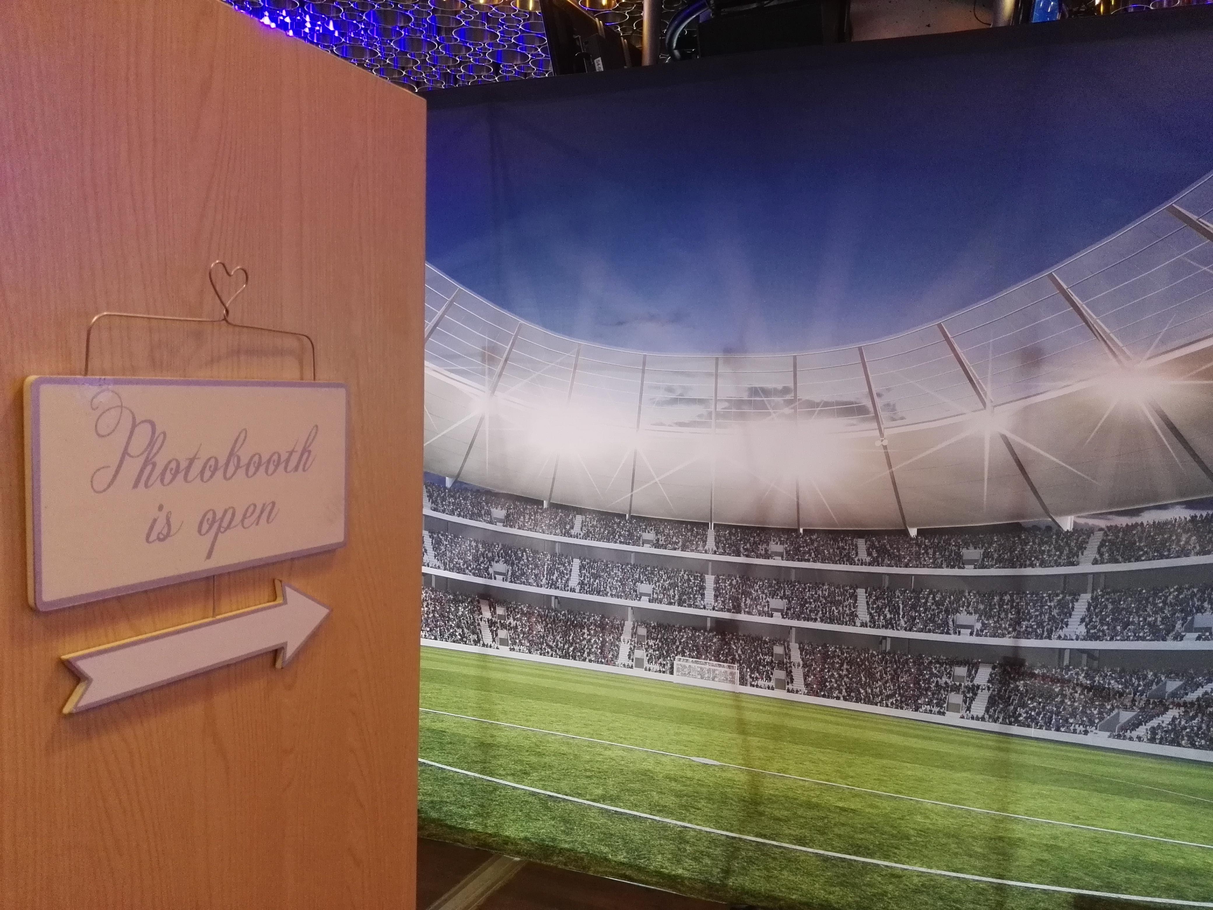 Hintergrund Fotobox Stadion WM EM
