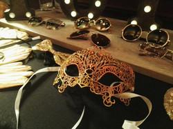 Maske,Gold,Brille