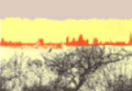 WINTER PARLIAMENT HILL, Screenprint 24 x