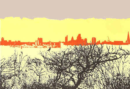 WINTER PARLIAMENT HILL, Screenprint 24 x