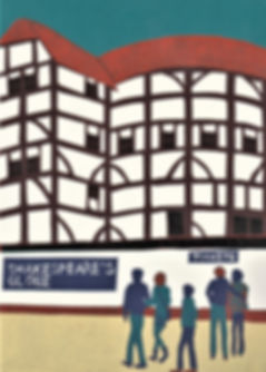 (Jennie Ing) The Globe Theatre 21x15cm.j
