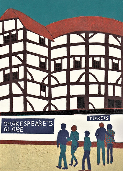 (Jennie Ing) The Globe Theatre 21x15cm.j