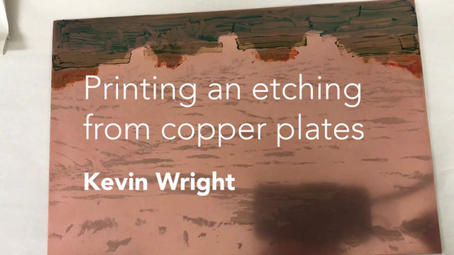 Kevin Wright shares the inking up of one of his amazing aquatints with us