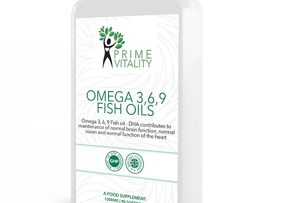 Omega 3,6,9 fish oils 1200mg 90 capsules