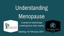 Understanding Menopause - Four Workshop Event