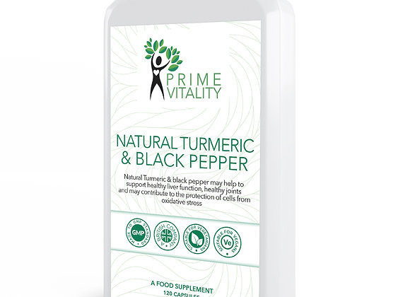 Natural Turmeric & Black Pepper 120 capsules
