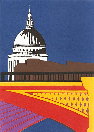 Blackfriars Bridge 20.59pm, Screenprint