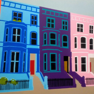 Coloured Houses Notting Hill.