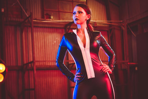 """Bella Kelly Racer Jumpsuit """"Throat"""" Official Photoshoot"""