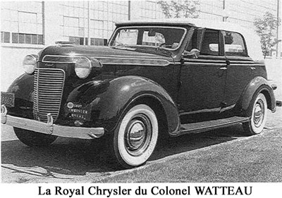 La Royale Chrysler du Colonet Watteau