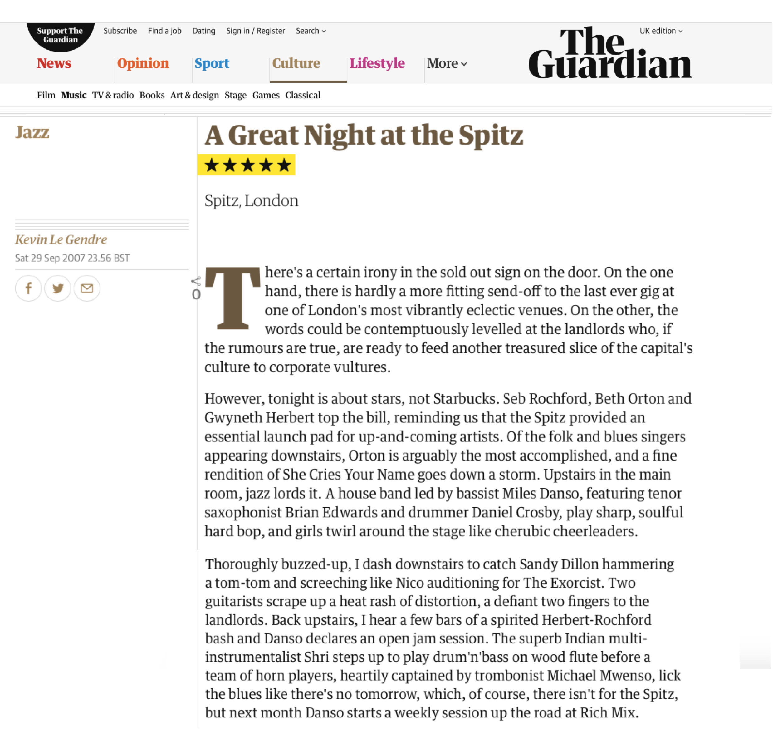 Spitz Guardian review 2007