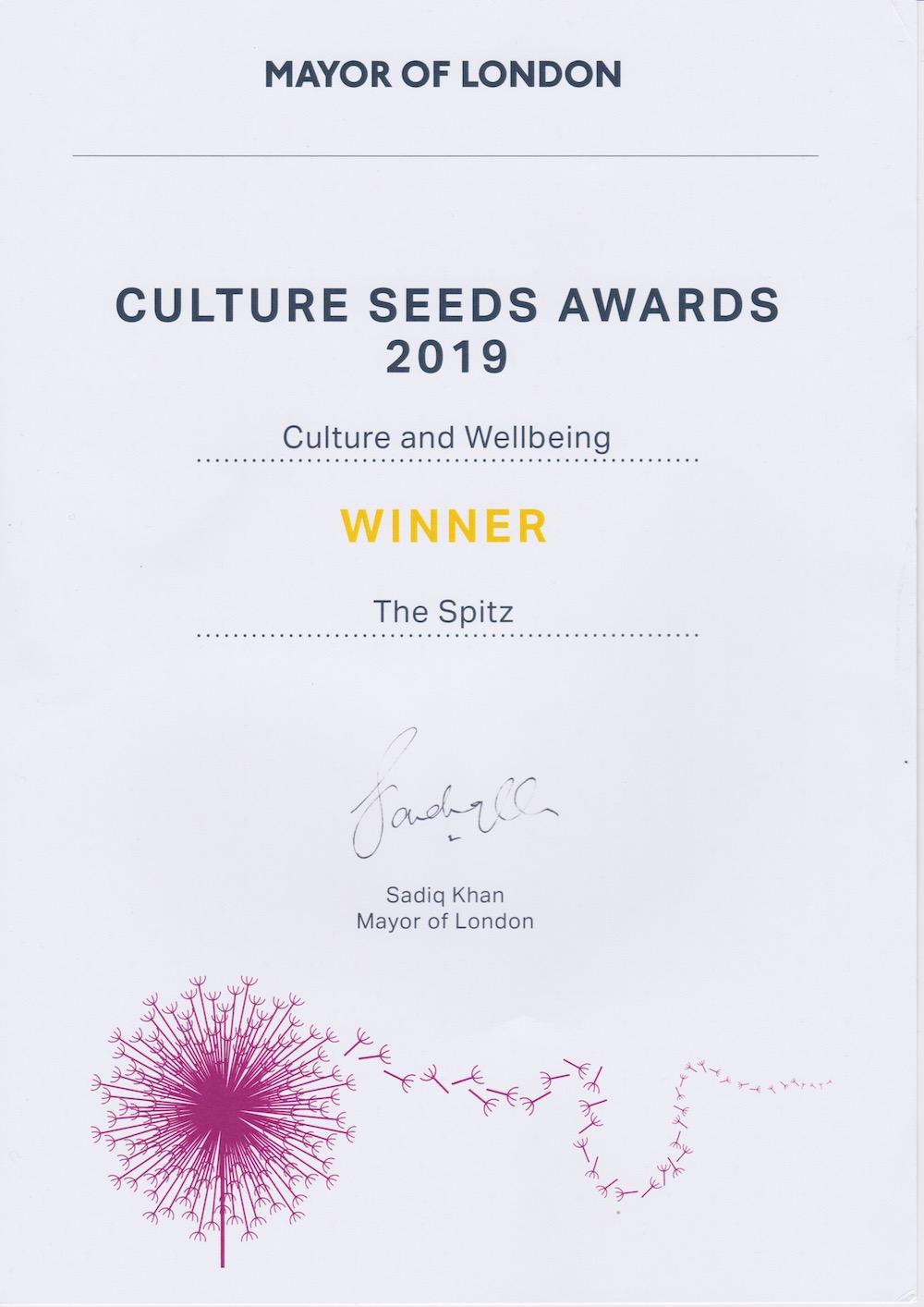 Culture Seeds awards 2019