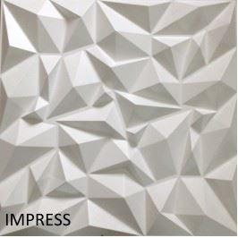 Revestimento Em 3d Pvc - Placa Decorativa 50x50 Impress