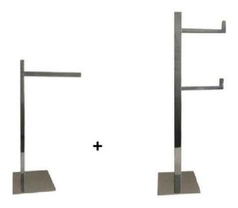 Porta Papel Higiênico Chão + Porta Toalha De Apoio Quadrado