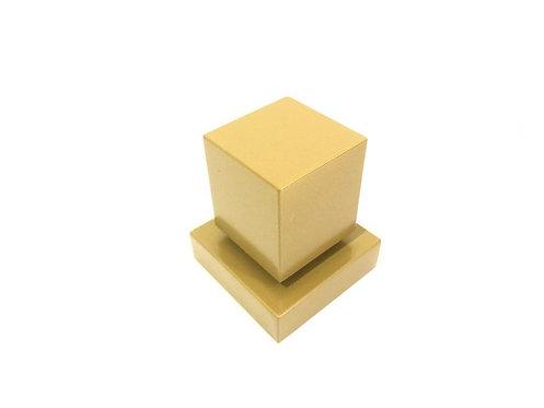 Acabamento Registro Quadrado 3/4 Padrão Deca Metal Dourado