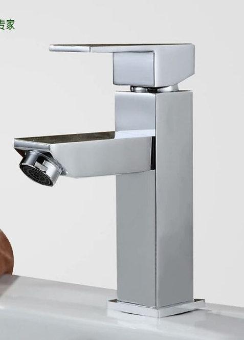Torneira Monocomando Banheiro Quadrada Baixa Cromada Gbs17