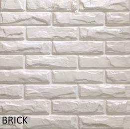 Revestimento Em 3d Pvc - Placa Decorativa 50x50 Brick