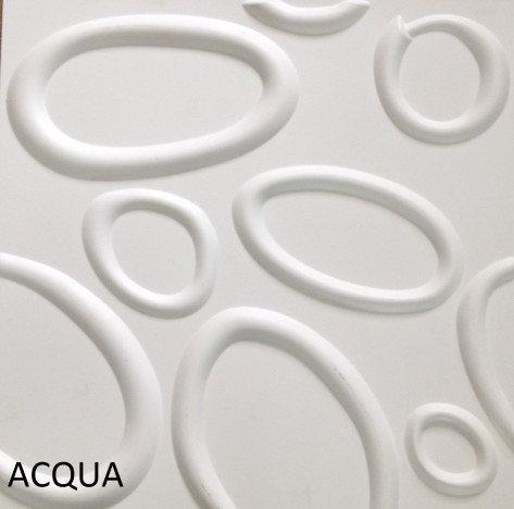 Revestimento Em 3d Pvc - Placa Decorativa 50x50 Acqua