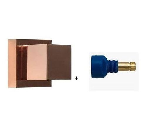 Acabamento Registro Quadrado 3/4 Rose Gold Brilhante + C Fabrimar