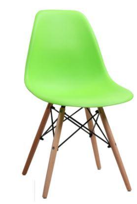 Cadeira Colorida Pvc Modelo Eiffel Verde