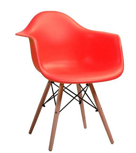 Cadeira Colorida Pvc Modelo Vegas C/ Braços Vermelha