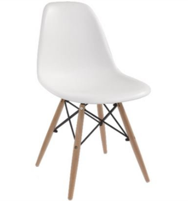 Cadeira Colorida Pvc Modelo Eiffel Branca