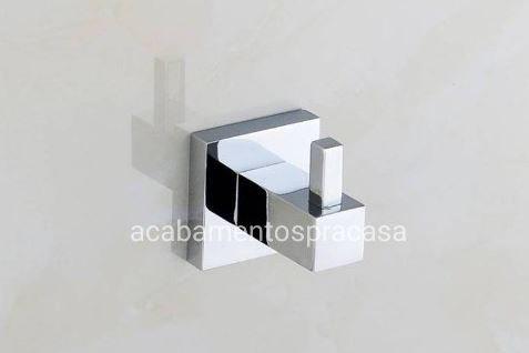 Cabide Quadrado Para Banheiro Dupla Fixação